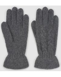 El Corte Inglés - Grey Knitted Gloves With Gathering - Lyst