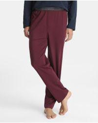 Emporio Armani - Long Maroon Knitted Pyjama Bottoms - Lyst