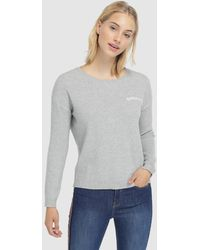 Green Coast - Grey Sweater With Embroidery - Lyst