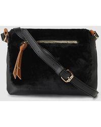 5dbe01b88341 Jil Sander Navy Crossbody Bag Synthetic Saffiano Black in Black - Lyst