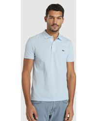 fa1bfdc1 Lacoste Short Sleeve Classic Polo Shirt in Blue for Men - Lyst