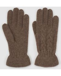 El Corte Inglés - Brown Knitted Gloves With Gathering - Lyst