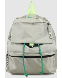 Green Coast - Wo Grey Backpack With A Carabiner - Lyst