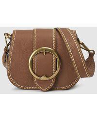Polo Ralph Lauren - Camel-coloured Cowhide Leather Mini Crossbody Bag - Lyst 0b9d3119f4