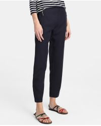 Zendra El Corte Inglés - El Corte Inglés Zendra Navy Blue Loose-fitting Trousers - Lyst