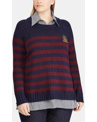 Denim & Supply Ralph Lauren - Plus Size Jumper With False Undershirt - Lyst