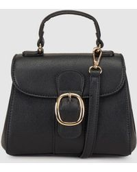 El Corte Inglés - Black Mini Handbag With A Front Buckle - Lyst