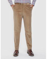 Mirto - Regular-fit Beige Corduroy Trousers - Lyst