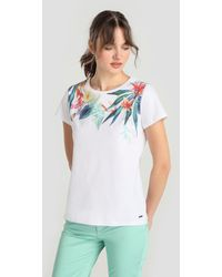 Yera - Short Sleeve T-shirt With Front Print - Lyst