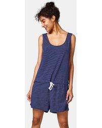 Esprit - Short Striped Beach Jumpsuit - Lyst