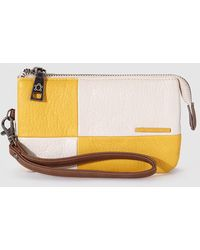Caminatta - Two-tone Yellow And Beige Case With Wrist Strap - Lyst