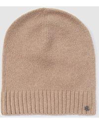Lauren by Ralph Lauren - Wo Beige Knitted Hat - Lyst
