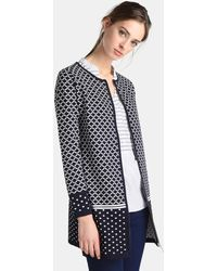 Zendra El Corte Inglés - El Corte Inglés Zendra Cardigan With A Jacquard Design - Lyst