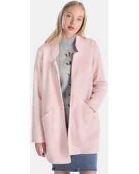 Vero Moda - Pink Woollen Cloth Coat - Lyst