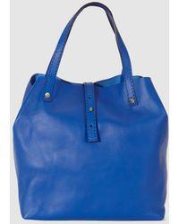 Gloria Ortiz - Sofia Small Blue Leather Shopper Bag - Lyst