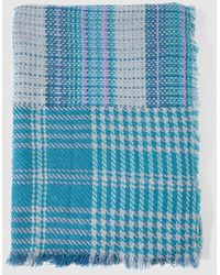 El Corte Inglés Blue Checked Xl Scarf