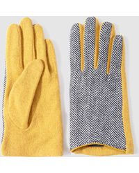 El Corte Inglés - Contrasting Yellow Gloves - Lyst