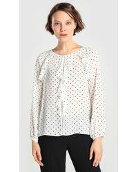 Yera - Polka Dot Print Blouse With Frill - Lyst