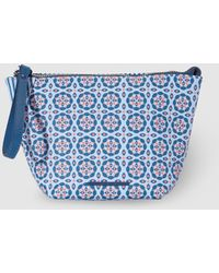 Jo & Mr. Joe - The Sunflowers Blue Toiletry Bag With Print And Zips - Lyst