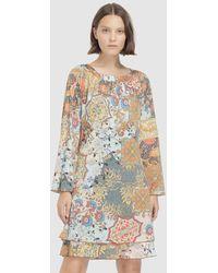 Escolá - Short Printed Dress - Lyst