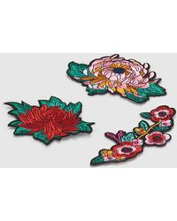 Green Coast - Set Of Multicoloured Flower Patches - Lyst