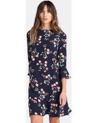 Yera - Short Floral Print Dress - Lyst