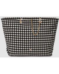 Gloria Ortiz - Antilles White Cotton Shopper Bag With Black Polka Dots - Lyst