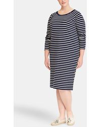 Denim & Supply Ralph Lauren - Plus Size Short Stripe Print Dress - Lyst