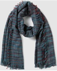El Corte Inglés - Xl Blue And Red Woven Scarf - Lyst