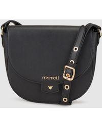 Pepe Moll - Wo Black Crossbody Bag With A Flap - Lyst