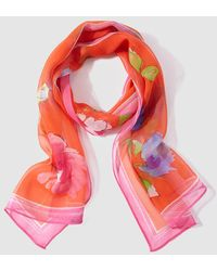 Lauren by Ralph Lauren - Orange Printed Silk Foulard - Lyst