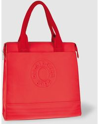 Caminatta - Red Shopper Bag With Raised Brand Detail - Lyst