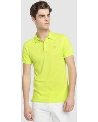 870583c4d39 Tommy Hilfiger - Regular-fit Lime Green Short Sleeve Polo Shirt - Lyst.  Supreme - Soccer ...