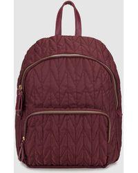 El Corte Inglés - Wo Burgundy Nylon Backpack With Zip - Lyst