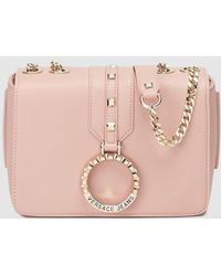 6991dd7b53c3 Versace Jeans - Small Pink Crossbody Bag With Embossed Ring - Lyst
