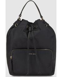 Gloria Ortiz - Nyla Black Nylon Backpack With Straps - Lyst