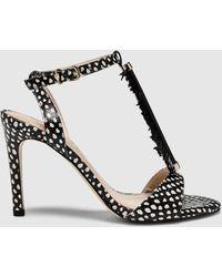 Martinelli - Latouche Black Leather High-heel Sandals - Lyst