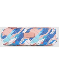 Jo & Mr. Joe - Blue And Pink Printed Pencil Case With Zip - Lyst