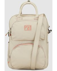 f844e5ddd Marc By Marc Jacobs Beige and Black Leopardmania Leather Backpack in  Natural - Lyst