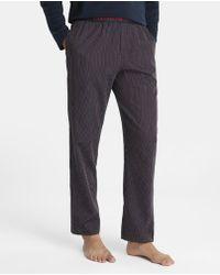 Emporio Armani - Long Blue Knitted Pyjama Bottoms - Lyst