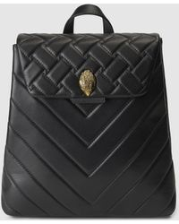 Kurt Geiger - Kensington Black Quilted Leather Backpack - Lyst