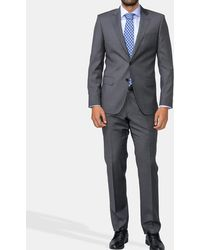 Mirto - Regular-fit Grey Micro-patterned Suit - Lyst