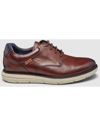 Pikolinos Light Brown Leather Lace-up Shoes