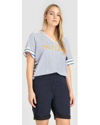 Couchel - Plus Size Navy Blue Bermuda Shorts - Lyst
