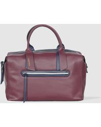 Robert Pietri - Burgundy Bowling Bag With Blue Details - Lyst