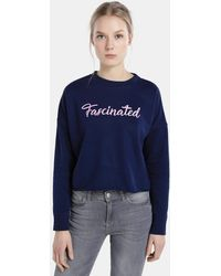 Green Coast - Sweatshirt With A Slogan And Round Collar - Lyst