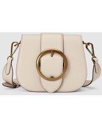 fef149cba8 Polo Ralph Lauren - Beige Cowhide Leather Small Crossbody Bag - Lyst