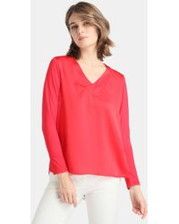 Zendra El Corte Inglés - El Corte Inglés Zendra Red Long Sleeve T-shirt - Lyst