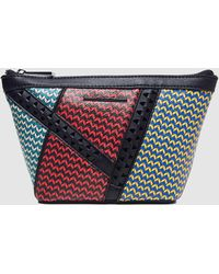 Jo   Mr. Joe - Multicoloured Printed Eco-leather Toiletry Bag With Zip - b376fae09da