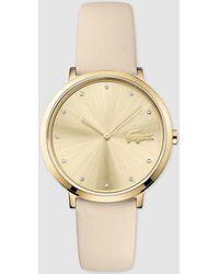 Lacoste - Moon 2001030 White Leather Watch - Lyst